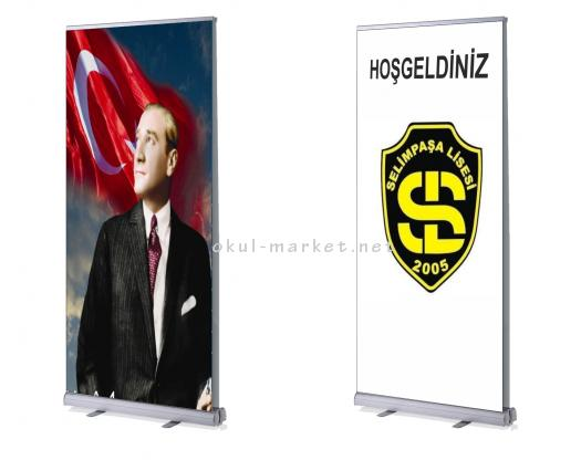Roll Up (80x200)cm  - Alüminyum Çerçeveler Roll Up
